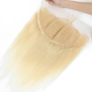 Malaysian 100% Virgin Human Hair Blonde 13*6 Lace Frontal With Baby Hair Straight 13x6 Frontals 613#
