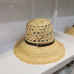 Stingy Brim Hats p family belt Lafite straw hat in spring and summer 2021