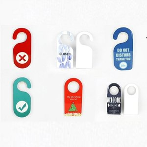 Wooden Made Dye Sublimation MDF Board Gate Knock Decoration Hanging Sign No Disturb Door Hangers NHA4691
