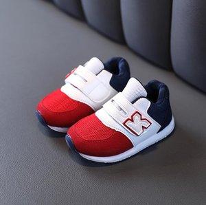 2021 Spring and Autumn Sports Sneakers Non-slip Mesh Designer Shoes Kids Korean Baby Boy Girl Toddler Size 21-30