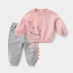 Melario Baby Girl Clothes Sets Autumn Winter Cartoon Girl Clothing Kids Tracksuit Children Clothing Suits 2Pcs 1 5 Years 210412
