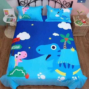 Dinosaur Duvet Cover Excavator 100%Cotton Cute 3 4Pcs Bedding for Kids Boys Baby Soft Fitted Bed Sheet set Twin Queen King