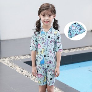 school kids' Boys' split quick middle drying girls' one-piece Swimsuit cute cartoon Children's wear