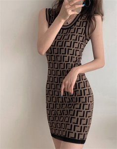 Designer Women's Printing Dresses Fashion Panelled Dress Womens Casual Sleeveless Long-skirts Vintage Blouse Long-skirt Lady Outwears Tops Size S-2Xl