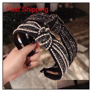 Korea Knotted Rhinestone Crystal Black Hairbands Hair Accessories Hairband Girls Sparkling Headbands For Women K7Y6S Djnj6