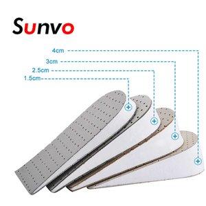Sunvo Halbhöhe Einlegesohlen Ferse Einfügen Aufzug Sportschuhe Pad Unsichtbarer Aufzug größer für up 1-4 cm Höhenverstärkung Insole Pads