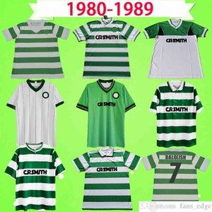 Celtic 1980 1984 1985 1986 1987 1988 1989 1990 Retro Futbol Forması 85 86 87 88 Vintage Futbol Gömlek Üst Üniforma Larsson Sutton McNamara
