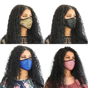Earloop Sequins Mouth Custom Face Masks Flash Mascarilla Respirable Foldable Mascherine Fashion Reusable Anti1