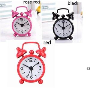 Mini Solid Color Alarm Clock Metal Students Small Portable Pocket Clocks Household Decoration Adjustable Electronic Timer HWE9264