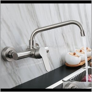 Faucets Faucets Showers Accs Home Garden Drop Delivery 2021 Kitchen Faucet Stainless Steel Bathroom Basin Sink Wall Mounted 360 Degree Swivel