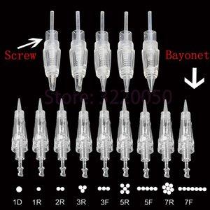 Tattoo Needles Disposable Screw Bayonet Cartridge Permanent Makeup Needle Microblading 1R 3R 5R 7R 5F 7F For PMU Machine