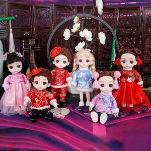 Dolls Yohey Barbie joint moving little girl princess children's toy set dress skirt birthday gift