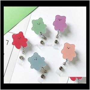 Partido Favor InS Sublimación Blank Bear Button Pull Button Doctor Insignia Clip Holder Factory Certificate Hebilla Tarjeta de la escuela Q YE4CR