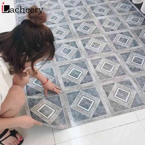 Thick Self Adhesive Marble Floor Sticker Decorative Wall Panel for Kitchen Waterproof Tile Ground Stickers Home Decoration Decal
