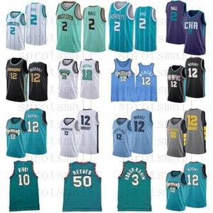 JA 12 Ahlaki Lamelo 2 Ball Mike 10 Bibby Basketbol Jersey Mens Shareef 3 Abdur-Rahim 50 Reeves Retro Yeşil Basketbol Gömlek