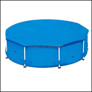 Pool Water Sports Outdoorspool & Aessories 10 12 15 Ft Round Swimming Paddling Er Inflatable Swim Uv-Resistant Waterproof Dustproof Aessory