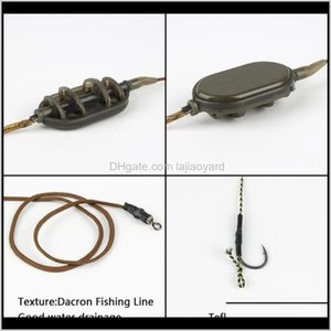 Sports & Outdoors Drop Delivery 2021 Carpfish Hook Rig Set Fishing Small Stainless Steel Bait Lure Lead Core Line Group With Aessories Hooks