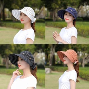Wide Brim Hats Comfortable Women Clothing Accessories Large Sunscreen Injury Button Cap Sunshade Beach Empty Top Hat Sun