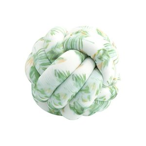 Selling Nordic Style Hand-woven Three-strand Ball Pillow Car Sofa Children's Room Decorative Baby Crib Bedding Set Pillows