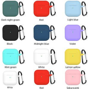 Silicone Cases For Airpods Pro 4 Luxury Protective Earphone Cover Case Shockproof Sleeve With Hook