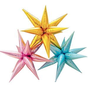 12pcs balloon Explosion Star Balloons Birthday Party Opening Ceremony Wedding Decoration Water Drop Cone Foil Balloons Party GWD6045