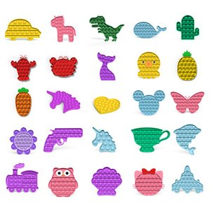 Carrot Push Bubble Fidget Sensory Toy New Push Pop Bubble Fidget Antistress Toys Adult Kids Pop Fidget Sensory Toy Autism