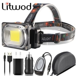 Colors COB White Red Rreen Yellow Led Headlamp USB Charging 18650 Battery Head Lamp Outdoor Camping Lantern Torch Headlamps