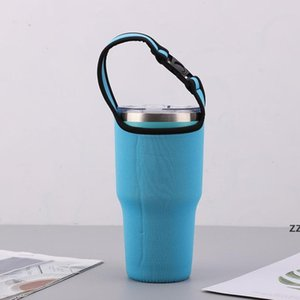 Drinkware Handle Strap Water Bottle Protective Insulation Cup Cover Anti-scald Folding Bag for 30oz HWF10470