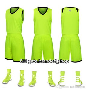 2019 New Blank Basketball jerseys printed logo Mens size S-XXL cheap price fast good quality Apple Green AG001