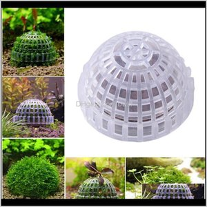 Aquariums Pet Supplies Home & Garden5Cm Plastic Natural Aquatic Bio Moss Ball For Aquarium Red Transparent Shrimp House Fish Tank Decoration