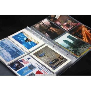 Creative 4 Ring Binder Postcard Photo 10x15 cm Different Sizes Post Card Collecting Album 6 Inch Photocard Holder 210330