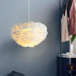 Pendant Lamps Feather Lights Lamp Nordic Design Lustre Vintage Loft Decor Dining Room Kitchen Home Light Fixtures LED ZM1016