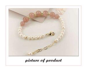 Ссылка сладкая и милая девушка Danshui Pearl личности моды простой универсальный чистый красный браслет