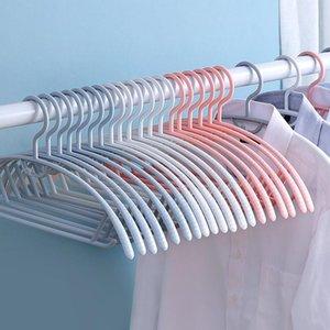 10pcs Household Antiskid Traceless Hanger For Clothes Drying Rack Multifunction Plastic Storage Hangers & Racks