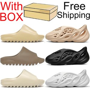 Free shipping kanye slides sandals shoes slippers pantoufles hommes diapositives chaussures femmes sandales baskets enfant mousse coureur pantoufle diapositive sandale formateurs