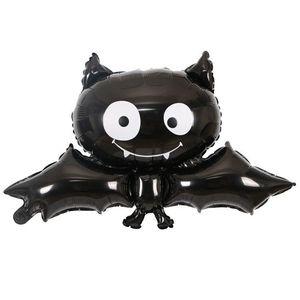 Halloween Bat Foil Balloon, Reusable Black Bat Balloon Halloween Props Kids Toys Home Party Bar Decoration Children Gifts H-0064
