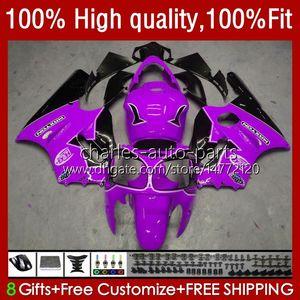 Injection OEM For KAWASAKI NINJA ZX-12R ZX 12R 1200CC 1200 CC 02-06 Body 3No.140 ZX1200 ZX 12 R ZX12R 2002 2003 2004 2005 2006 ZX1200C 02 03 04 05 06 ABS Fairing purple blk