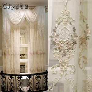 Curtain & Drapes Water-soluble Embroidered High-end Turkish Style Semi-blackout Curtains For Living Dining Room Bedroom