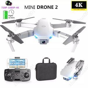 Super E59 RC LED Mini Controlled con AccessOires Drone 4K HD Videocamera Videocamera Aerial Photography Aircraft Aircraft 360 gradi Flip WiFi Lunga durata della batteria
