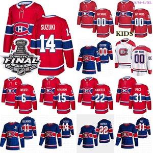 Custom Montreal Canadiens Jersey 31 Carey Price 22 Cole Caufield 14 Nick Suzuki 11 Brendan Gallagher 6 Shea Weber Hockey Trikots