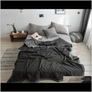 Comforters Sets Bedding Supplies Textiles Home & Garden Drop Delivery 2021 Cotton Polyester Summer Quilt Spring Autumn Blanket Suitable To Us