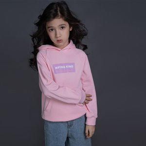 280g cotton middle school Children's 2021 spring new boys' and girls' British style single T sweater