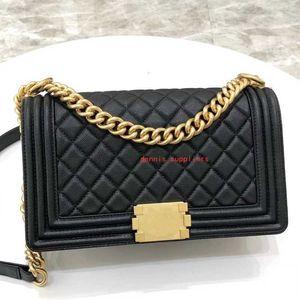 Top quality handbags woman le small Diamond Lattice Thread Genuine Leather Chains classic flap boy wallet purse crossbody bag Shoulder Bags