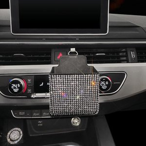 Car Organizer Bling Portable Air Vent Storage Boxes Case Auto Outlet Mobile Phone Holder Bag Pouch Sundries Stoage