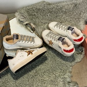 Italy Deluxe Brand used stars dirty Man Women Casual shoes fur one retro casual wool shoes Plush warm wool small dirty shoes women 34-44