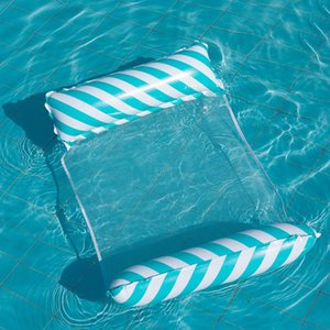 Inflatable Floats & Tubes Summer Foldable Floating Row Swimming Pool Water Hammock Air Mattresses Bed Beach Toy Lounge Chair
