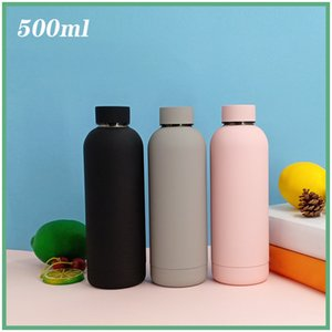 500ml Vacuum Insulated Sports Water Cups 304 Stainless Steel Outdoor Portable Water Bottle Leak Proof Flasks Thermos Cup H32W34F 133 Z2