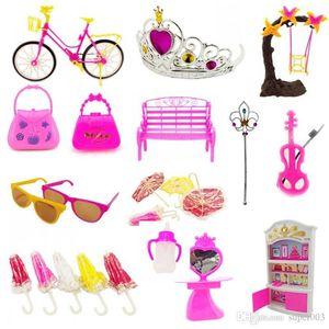 55Pcs Baby & Toys Creative Cartoon Designed Dolls DIY Toy Accessory Random Color FJ88