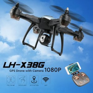 LH-X38G GPS RC Drone With Camera 1080P 4K WiFi FPV Dron Auto Following Altitude Hold Quadcopter 2.4G APP Control Toys Drones