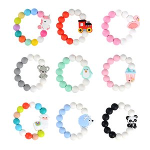 baby teethers bracelets cartoon animal Soothers teething toys M3448
